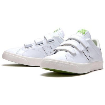 NEW BALANCE 210 AM210VKM 全白 白色 白綠 魔鬼氈 皮革 復古休閒鞋 韓系 NB 男女23-28