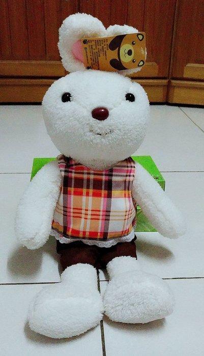 {欣娃小舖}~彩色衣兔子 絨毛娃娃(高50cm)