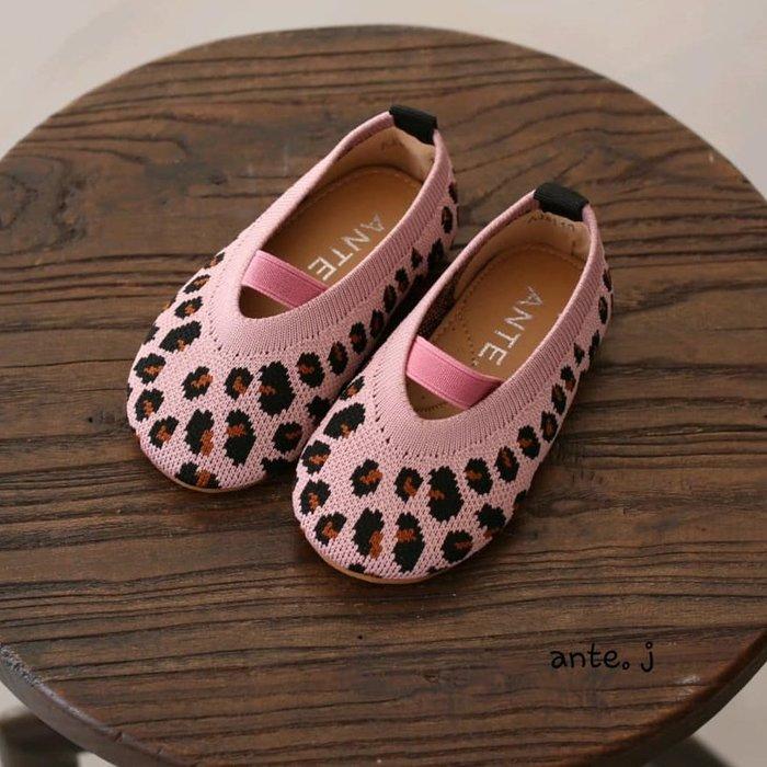『※妳好,可愛※』 妳好可愛韓國童鞋 正韓  豹紋娃娃鞋 鬆緊娃娃鞋 豹紋兒童鞋 娃娃鞋