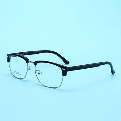眼鏡 框 半框 鏡架-韓版商務時尚百搭男女平光眼鏡6色73oe39[獨家進口][米蘭精品]