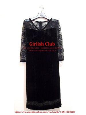 【Girlish Club】專櫃夏玉玲蕾絲透膚細銀蔥洋裝(m968)iroo 夏姿貝爾尼尼四三一元起標
