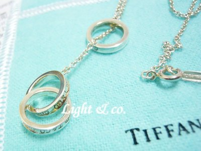 【Light & co.】專櫃真品 TIFFANY & CO 925純銀 雙1837 戒指 三環戒 三圈 項鍊 Y字鍊