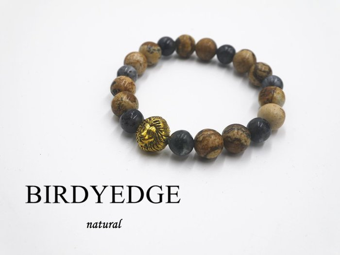 BIRDYEDGE 天然 土耳其 木紋石珠 混暗黑 麻腦 獅子 老虎 手環 飾品 配件 珠 男 女