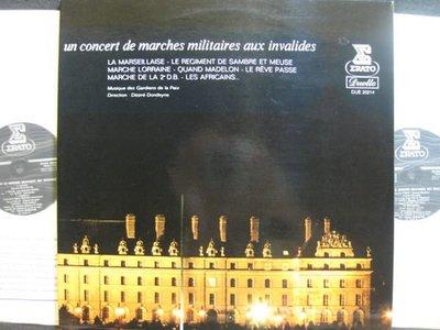A370*Erato*法國版*Concert de Marches Militaires aux Invalides*Dondeyne*NM*豪華摺頁/雙碟