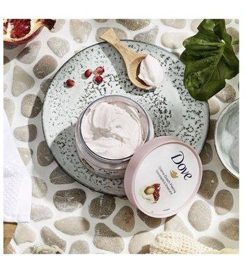 德國Dove多芬冰淇淋沐浴身體磨砂膏去角質奶油乳霜 紅石榴 225ml