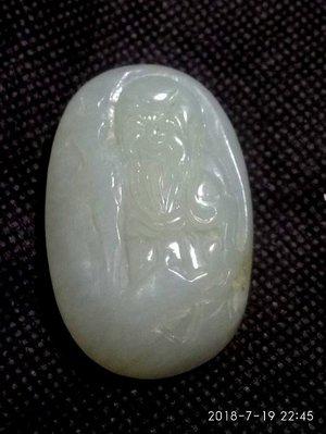 諸羅山人~~~特價品***清~民國籽玉雕 壽翁重31公克,長4.2寬2.3厚1.5公分油潤細緻,白度佳