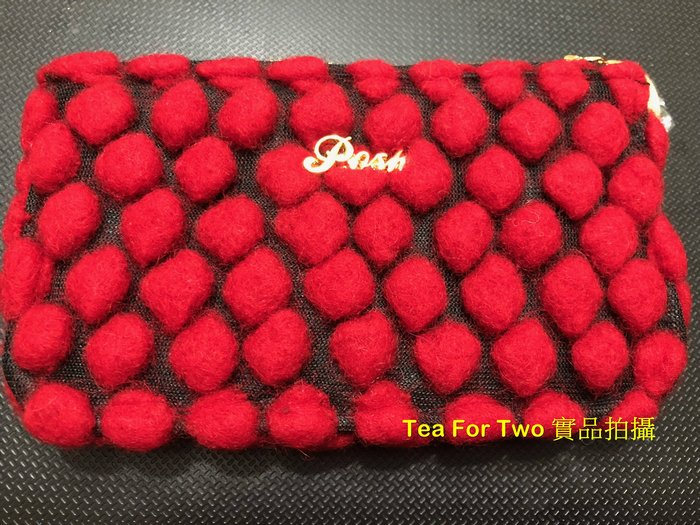 泰國正品(現貨) - POSH 紅色顆粒時尚小錢包