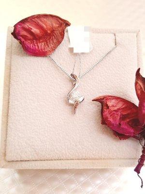 白K金天然鑽石 愛情堅定墜飾【三民區寶麗金珠寶金品】
