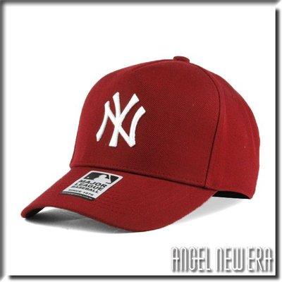 【ANGEL NEW ERA 】 MLB Old Fashioned Cap NY  紐約 洋基 酒紅 卡車司機帽 五片
