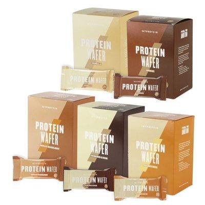 【英國Myprotein】高蛋白威化餅乾 10入/盒裝(香草/巧克力/淇淋巧酥/榛果巧克力/巧克力花生醬)