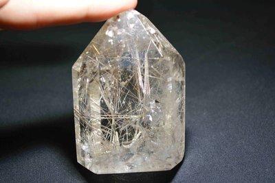 容際水晶 天然水晶 銀鈦柱 《免運費》#92