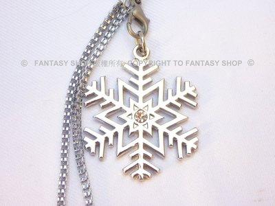 FANTASY SHOP~初音未來(HATSUNE MIKU)白水晶雪花/雪片手機吊飾(可以改成鑰匙圈)