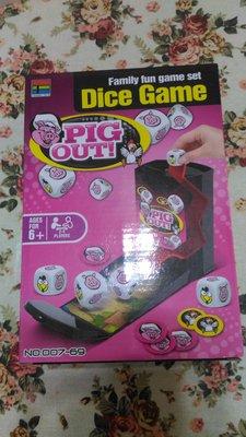 哈哈玩具屋~桌遊~好運豬骰盒 Pig Out Dice Game 益智遊戲 親子遊戲