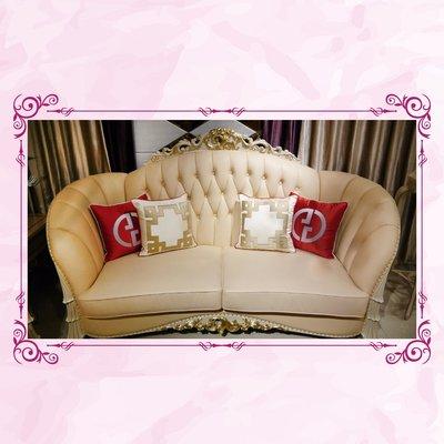 [紅蘋果傢俱] CT-007 新古典系列1+2+3沙發椅 歐式沙發 新古典沙發 高檔 法式沙發 實木沙發 皮沙發 奢華