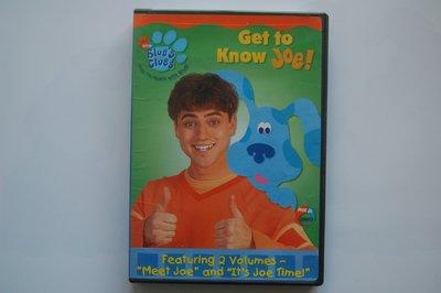 兒童英語DVD 【Blue's clues】 Get to Know Joe  二手正版光碟 狀況良好如新