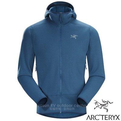 大里RV城市【ARC'TERYX 始祖鳥】Polartec PowerStretch 男款輕保暖連帽刷毛外套 19770