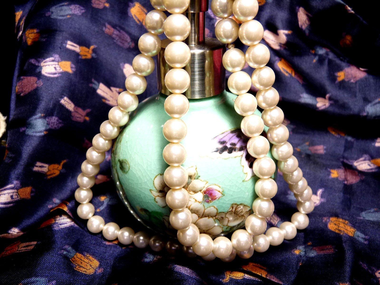 花見小路m062 珍珠項鍊 76粒 10mm  76公分  重約51g