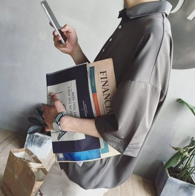 【JP.美日韓】襯衫 質感 套頭 襯衫 抽繩 請看細節照  韓國 代購 ZNIF