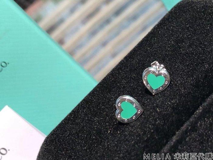 Melia 米莉亞代購 美國代買 Tiffany&Co. 925純銀 Tiffany 蒂芙尼 8月新品 耳環 愛心琺瑯