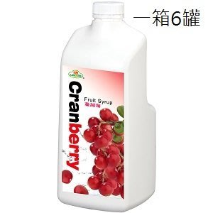 【綠盟】福樹牌 蔓越莓濃糖果汁- 2.5kg*6入/箱--【良鎂咖啡精品館】