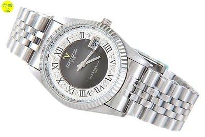 (六四三鐘錶精品店)Emilio Valentino(真品)手錶..來自義大利的品牌..黑面!