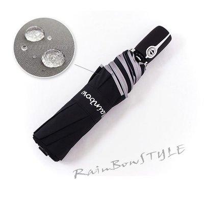 【RAINBOW】㊣RB精品自動傘-日本SWR機能(黑) /雨傘自動傘防風傘大傘抗UV傘洋傘折傘潑水傘撥水傘 (免運)