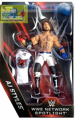 ☆阿Su倉庫☆WWE AJ Styles Network Spotlight Elite Figure 摔角狂熱精華版