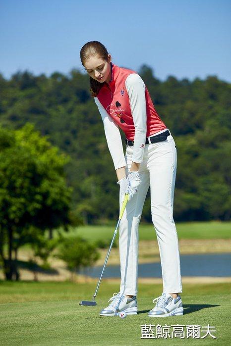 藍鯨高爾夫 Le coq sportif 女長袖立領拉鍊衫(桃紅) #QL123102