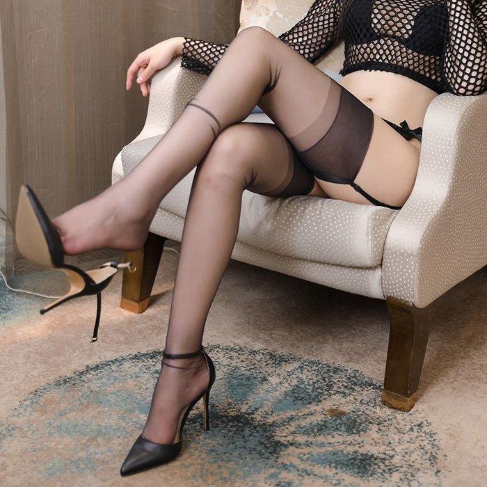情趣館 性感絲襪情趣防勾絲火辣開檔免脫女長筒襪連褲襪黑超薄款襪子 禧禧