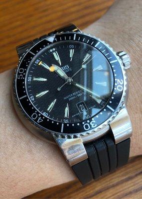 ORIS 豪利時 機械潛水錶 300m 剛保養完 原廠錶帶 瑞士製