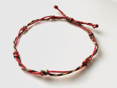 晶御飾品  紅色五色線開運祈福手鍊D03
