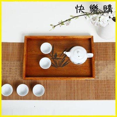 托盤 日式木質托盤長方形家用酒店客廳茶具茶水杯手提木頭盤子木制茶盤