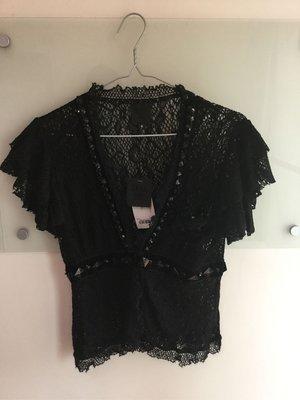 Anna sui 黑色短袖針織外套4號