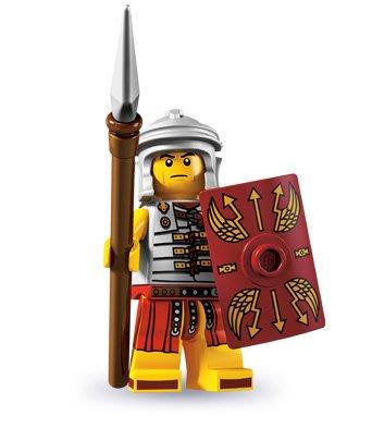 現貨【LEGO 樂高】積木/ Minifigures人偶系列: 6代人偶包抽抽樂 8827 | 羅馬戰士+盾牌+長茅