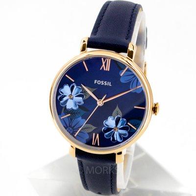 現貨 可自取 FOSSIL ES4673 手錶 36mm 玫瑰金錶框 珍珠母貝面盤 藍色皮錶帶 女錶