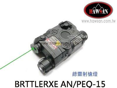 BRTTLERXE AN PEQ-15 綠雷射槍燈+充電器+老鼠尾線 黑色