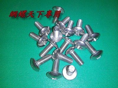 網螺天下※304白鐵不鏽鋼大扁頭機械牙螺絲 M6*10mm長/每支1.5元,另有各公制、英制白鐵大扁頭機械牙螺絲歡迎提問