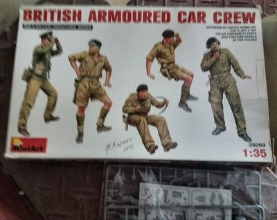 Miniart – 35069-British- Armored Car Crew-5 figures-1/35-加3元手續費-M-150