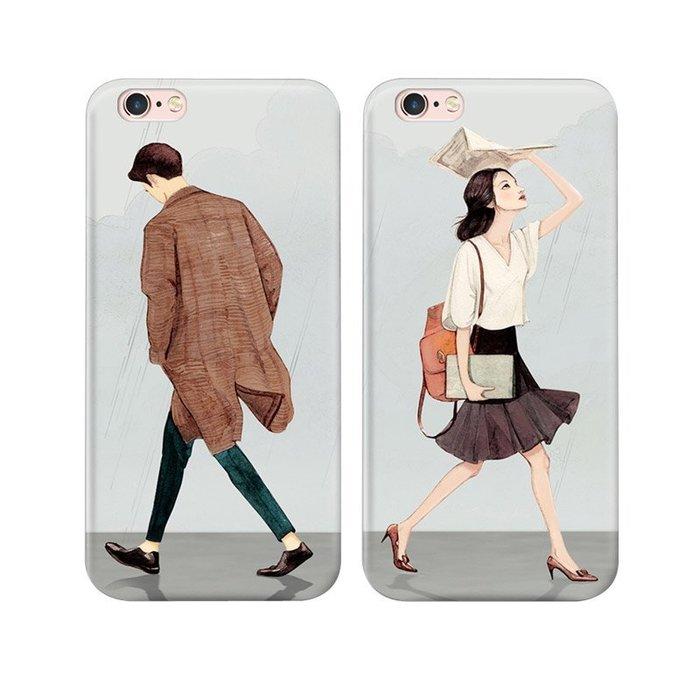 日系手繪情侶手機殼【0361】6 6s Plus iPhone 5 5s 7 7s 8 軟殼全包 非史黛拉兔聖誕星巴克