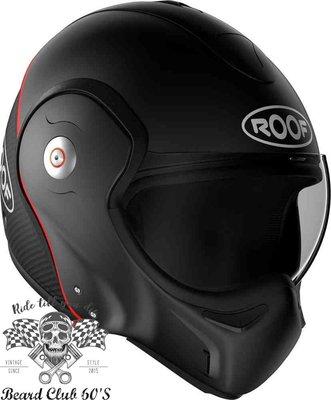 ♛大鬍子俱樂部♛ ROOF® Boxxer Carbon 法國 復古 碳纖維 街車 多功能 掀蓋 全罩 安全帽 消光