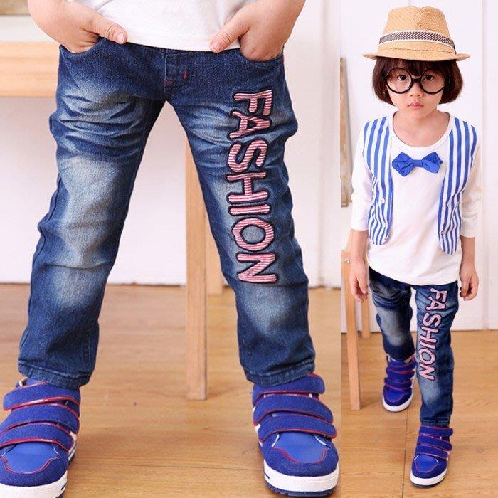 韓版《FASHION字母款》帥氣牛仔長褲 (K5-6)