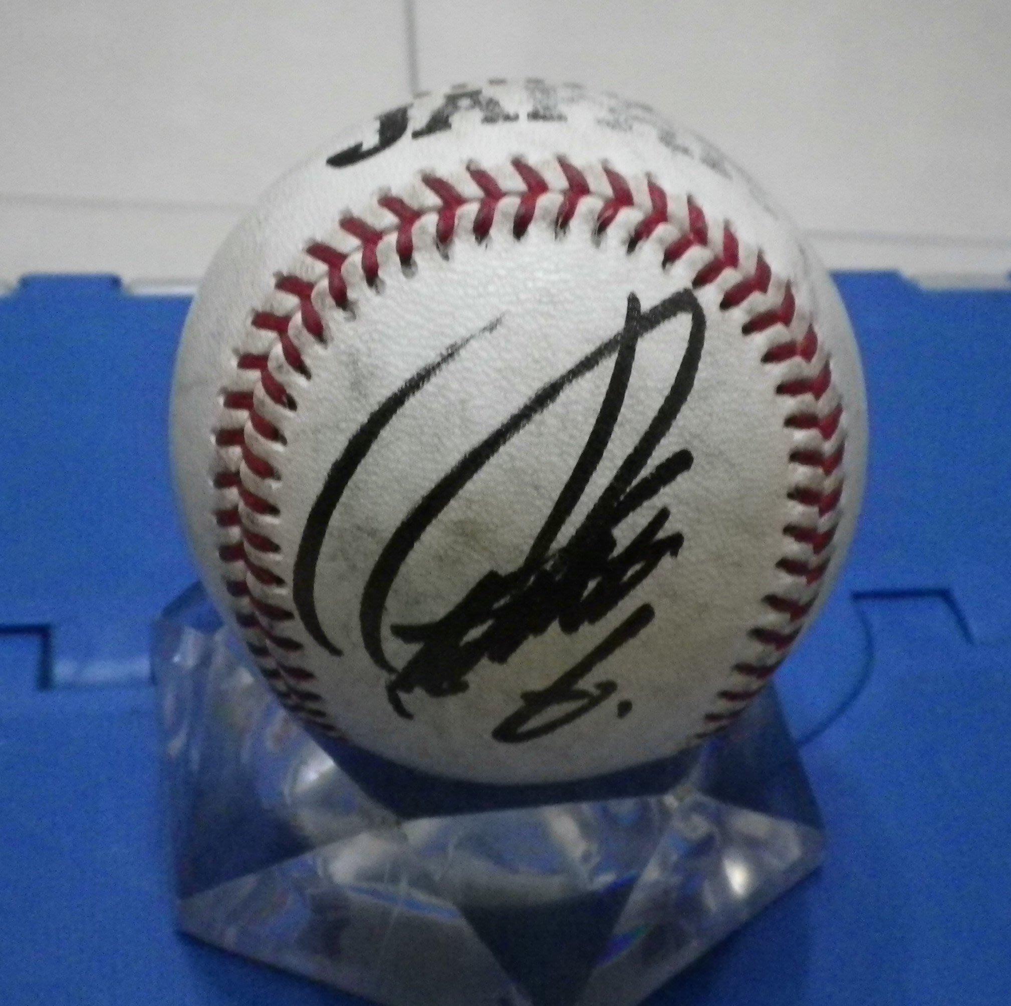 棒球天地--5折賠錢出--世界12強 中田翔 簽名最新版日本國家隊練習球.空運來台....只有1顆