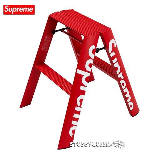 【超搶手】全新正品2018 秋冬 Supreme Lucano Step Ladder 2階工作梯 折疊梯 梯子 紅色