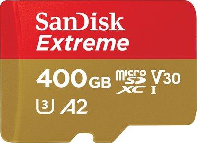 SanDisk Extreme microSDXC 400GB 400G U3 C10 A2 160MB 記憶卡