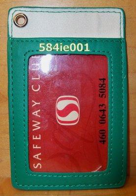 Starbucks 星巴克 深綠色 ID 名片 識別證 職員證 證件夾 含吊帶