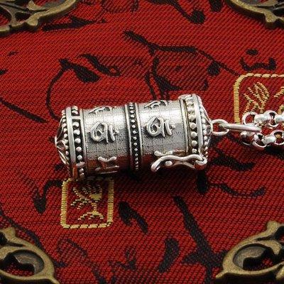 【泰合緣】S925純銀復古工藝楞嚴咒經文嘎烏盒六字真言可打開銀項墜子THY2535