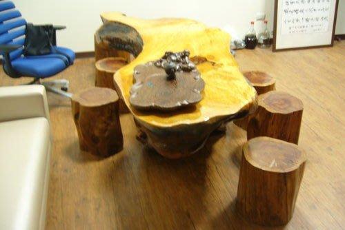 宏品二手家具館 原木傢俱賣場 *全實木一體成型泡茶桌椅 *台灣檜木桌 茶几 會議桌 業務桌