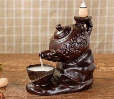 連杯梅花壺倒流香塔香香爐 黑檀木質工藝品 倒流香爐