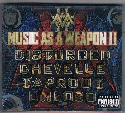 [鑫隆音樂]西洋CD-騷動樂團 Disturbed:Music as a Weapon II [CD & DVD]全新