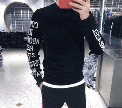 歐韓貨半高領毛衣男修身冬季新款黑色內搭加厚保暖天鵝絨針織套頭衫男潮